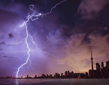 Lightning in Toronto, Canada